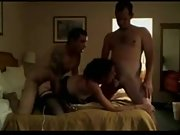 Hot wife fucks her hubby and his friend in a threesome